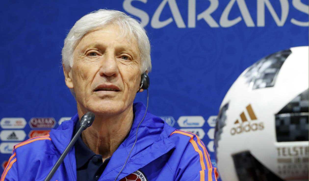 José Pékerman, técnico de Colombia, en rueda de prensa