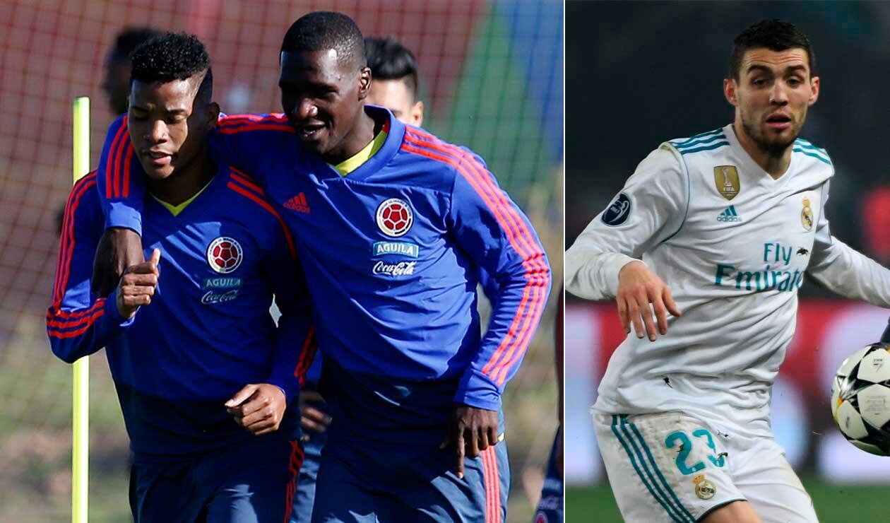 Wílmar Barrios, de la Selección Colombia; Mateo Kovacic, jugador del Real Madrid