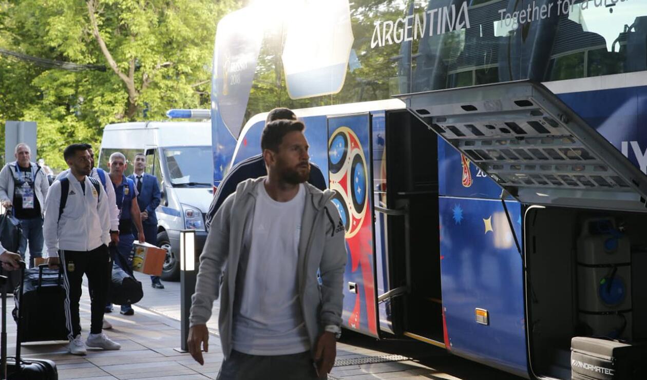 Lionel Messi delantero de la Selección Argentina