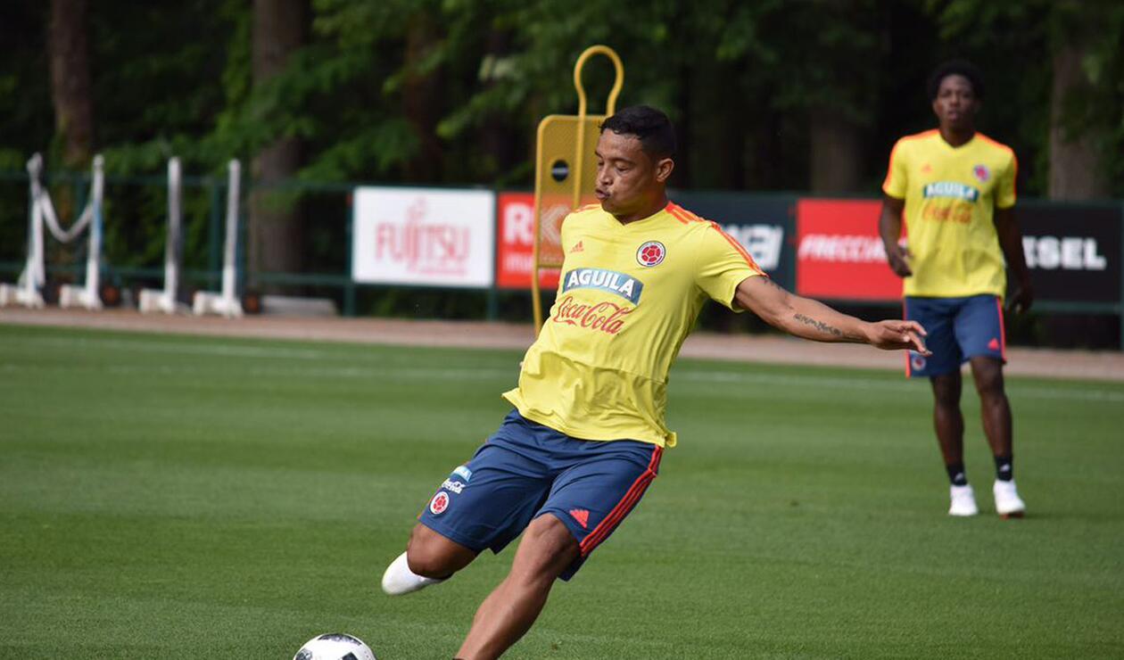 Luis Fernando Muriel en un entrenamiento de la Selección Colombia