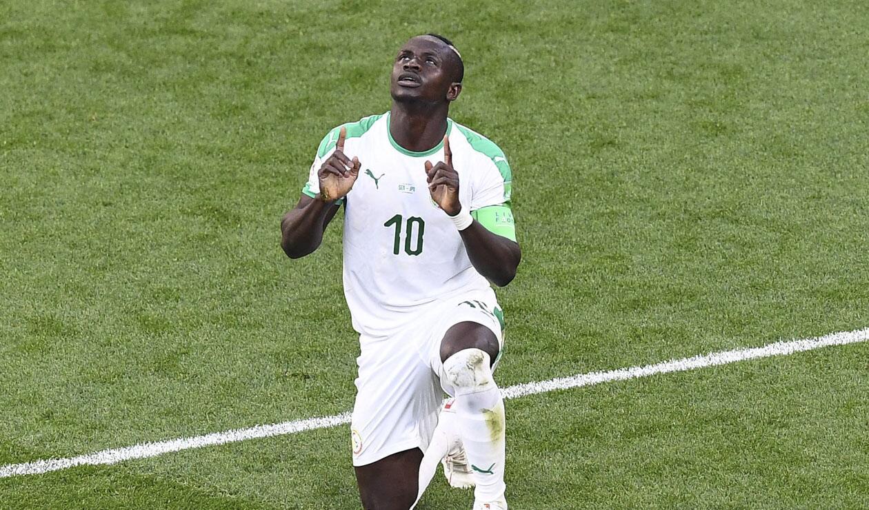Sadio Mané no logró darle la victoria a Senegal frente a Japón