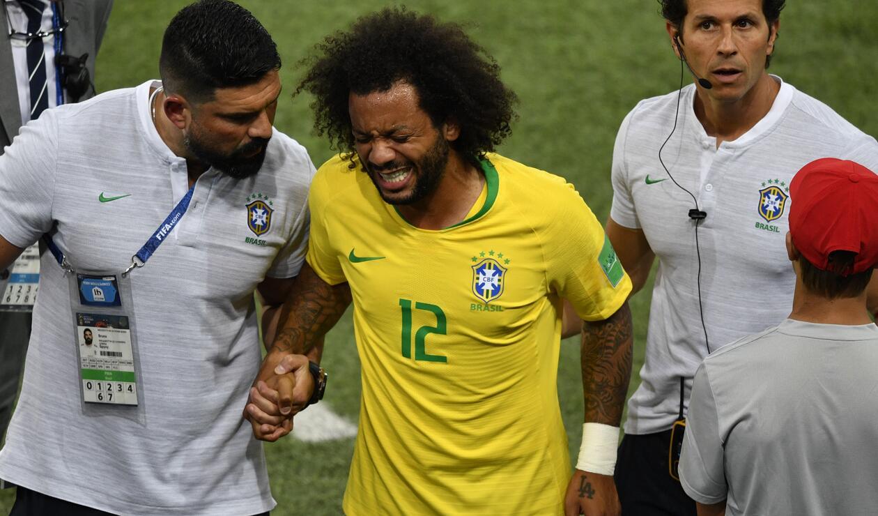 Marcelo sufrió espasmo en la columna