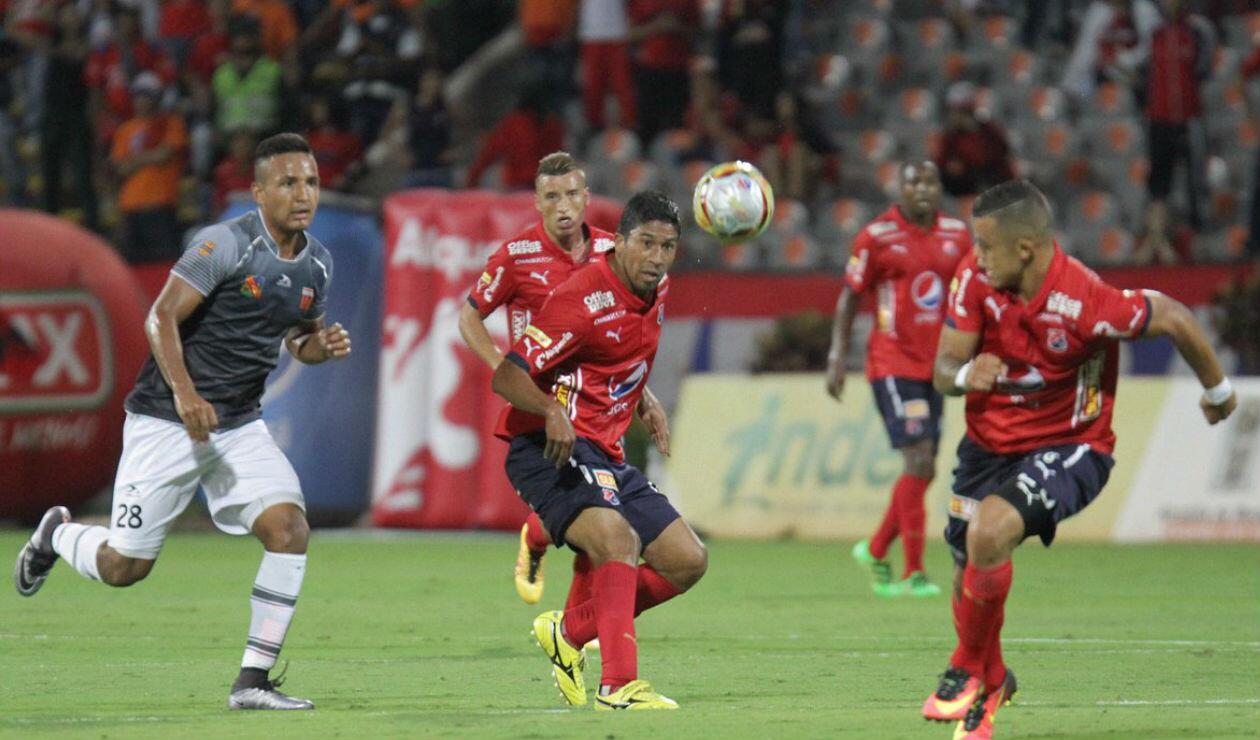 Christian Marrugo jugadno en el Independiente Medellín