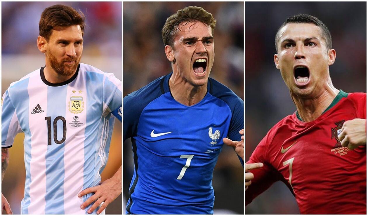 Messi, Griezmann y Ronaldo