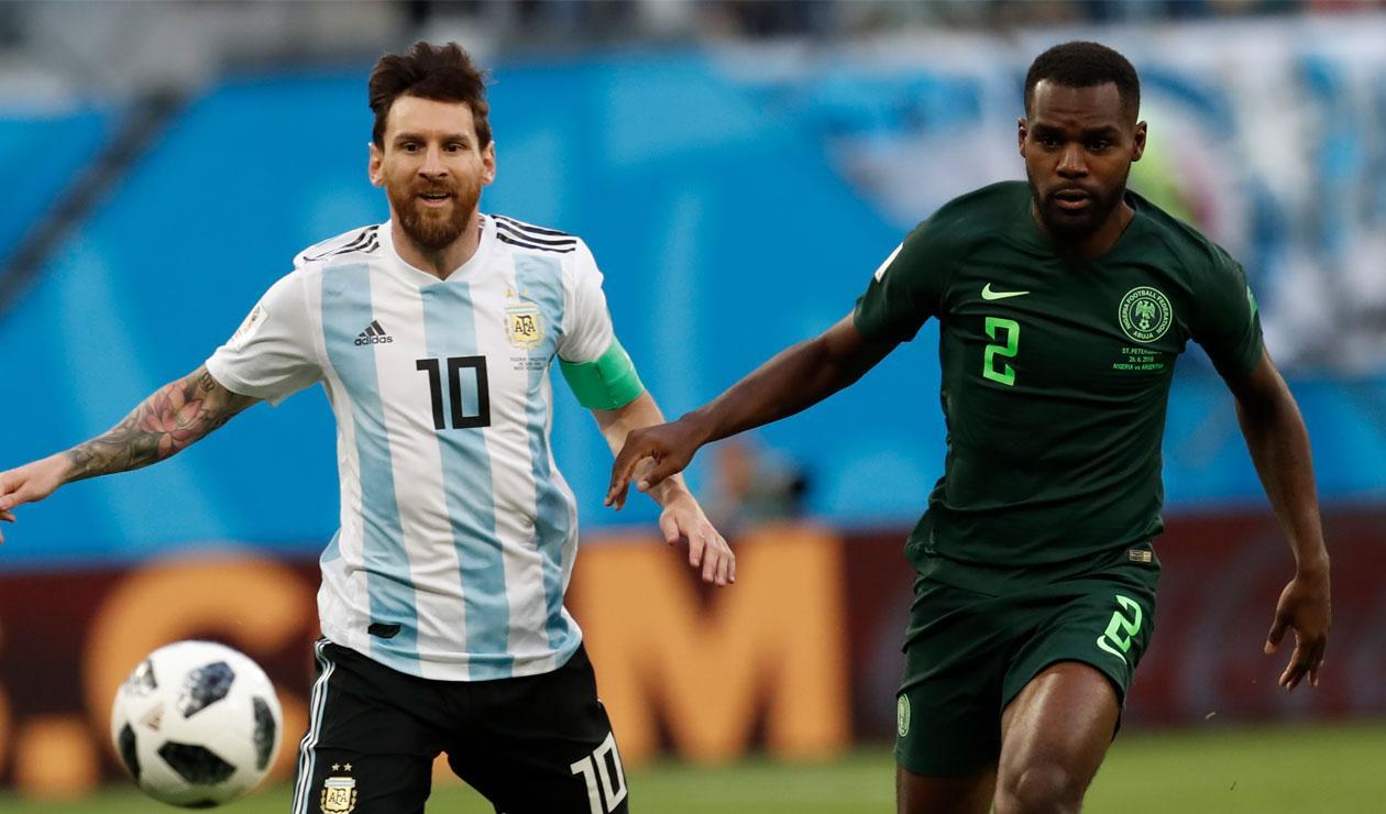Lionel Messi tuvo un gran partido ante Nigeria en Rusia 2018