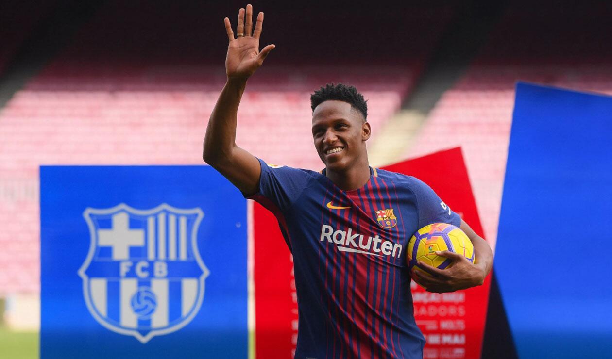 Yerry Mina, jugador colombiano en el Barcelona