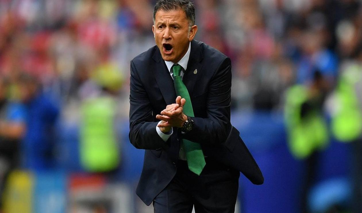 Juan Carlos Osorio, técnico de la Selección de México, en el Rostov Arena