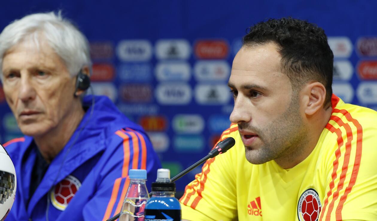 David Ospina y José Pékerman en conferencia de prensa