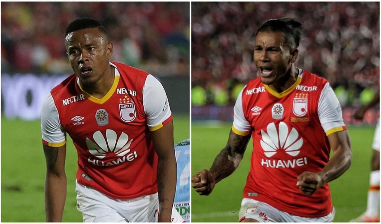Jhon Pajoy y Wilson Morelo con Independiente Santa Fe