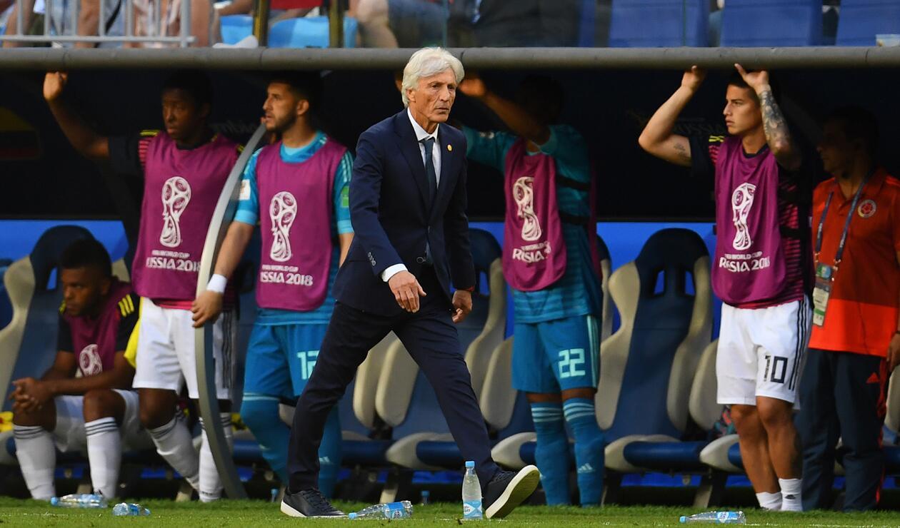 Pékerman durante la victoria de Colombia sobre Senegal