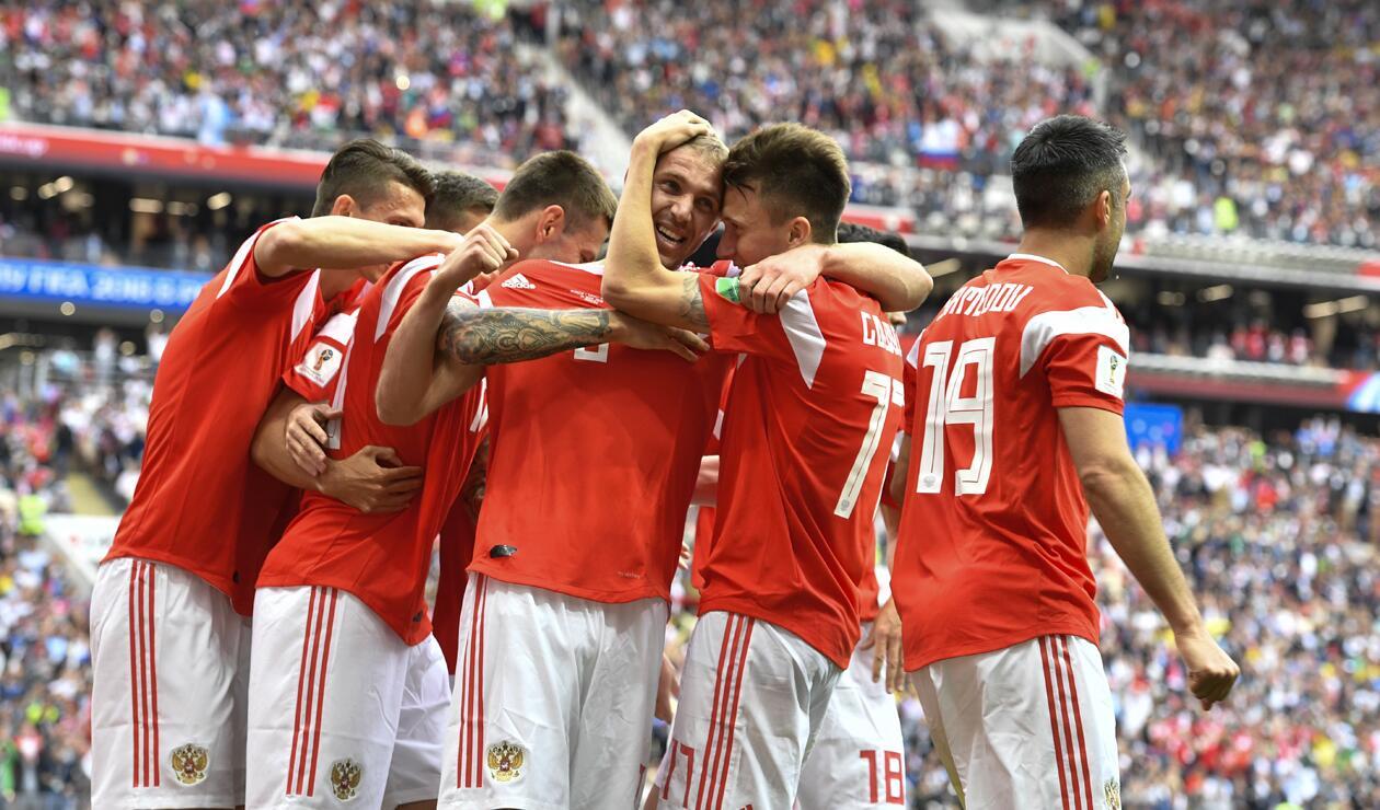 Rusia celebró el primer gol del Mundial