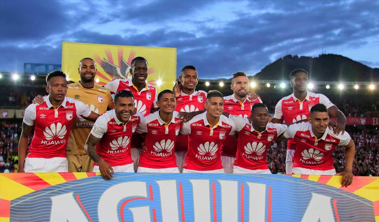 Independiente Santa Fe, equipo formado que participó en Liga Águila I 2018