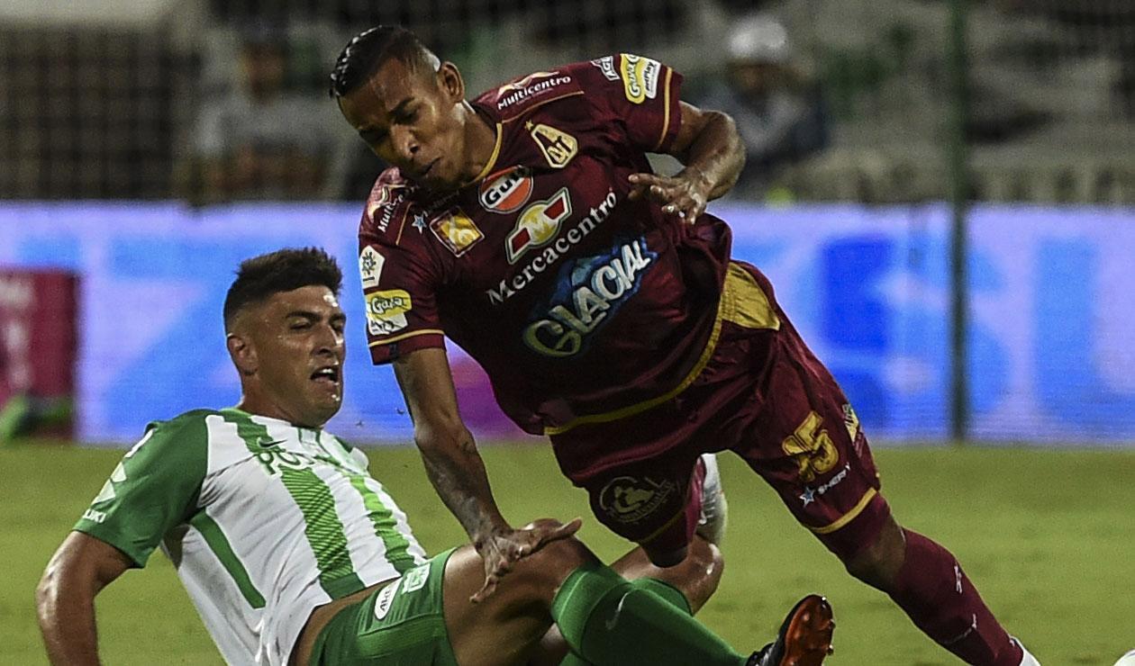 Sebastián Villa jugando la final del FPC ante Nacional