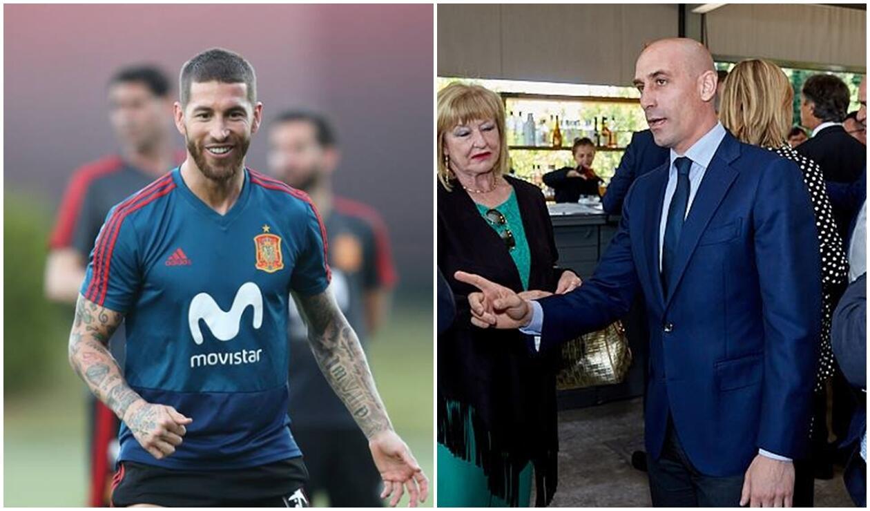Sergio Ramos y Luis Rubiales Selección de España