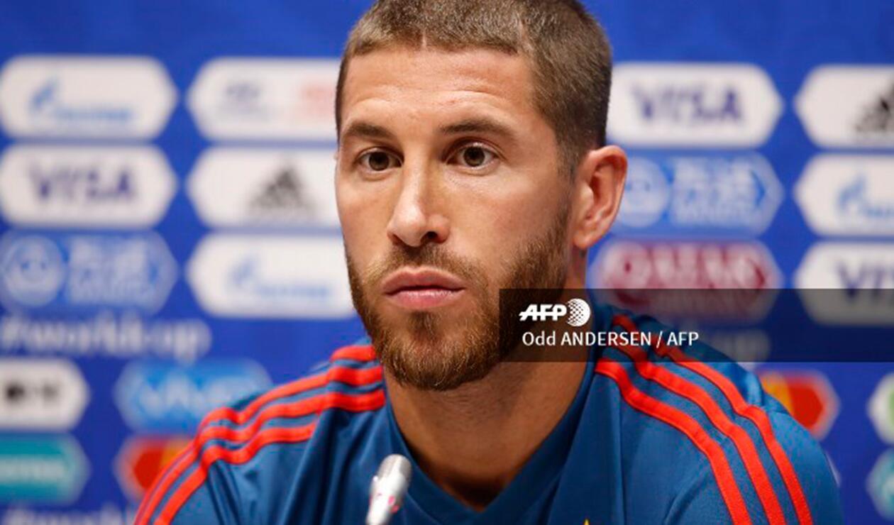 Sergio Ramos, futbolista de la Selección de España