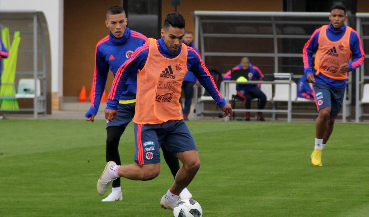 Falcao en el primer entrenamiento de Colombia en Rusia