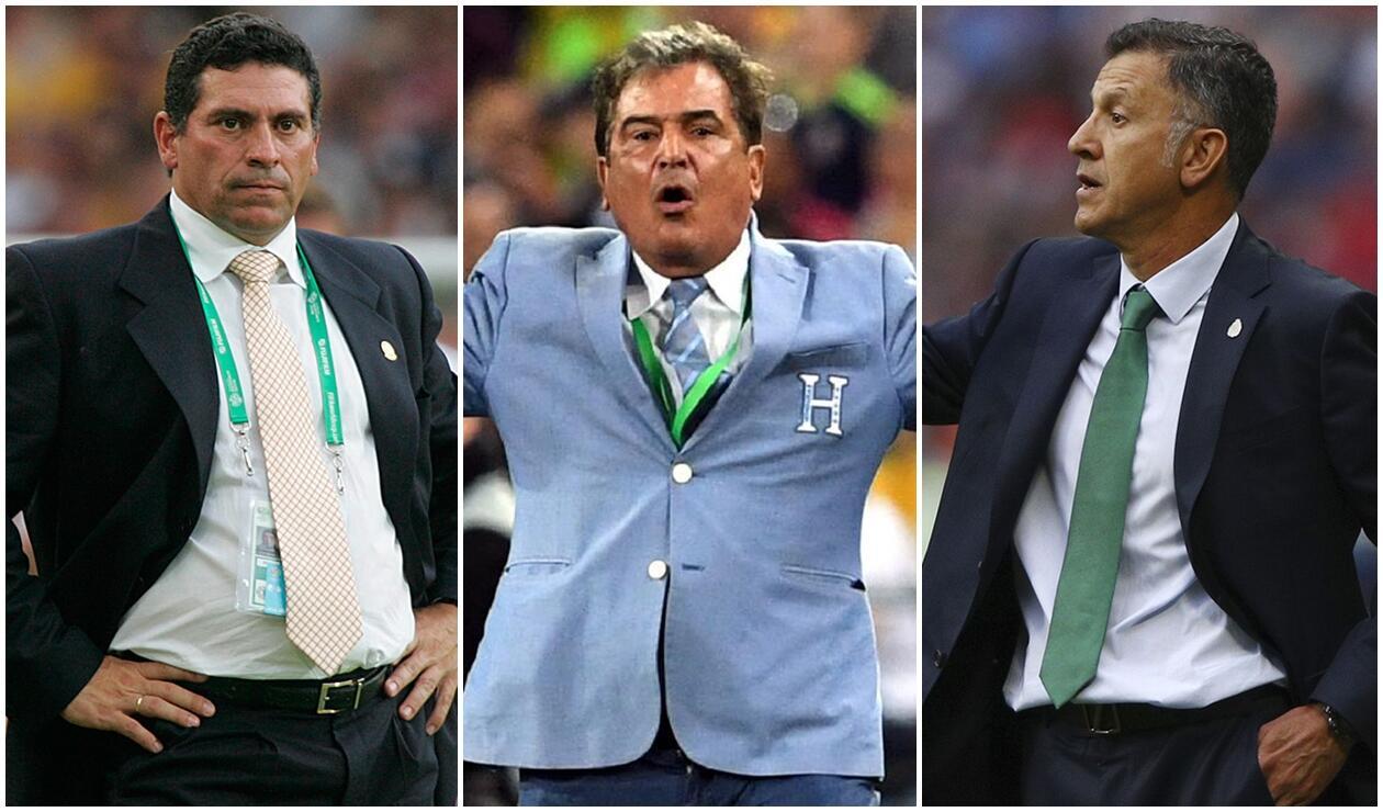 Luis Fernando Suárez, Jorge Luis Pinto y Juan Carlos Osorio