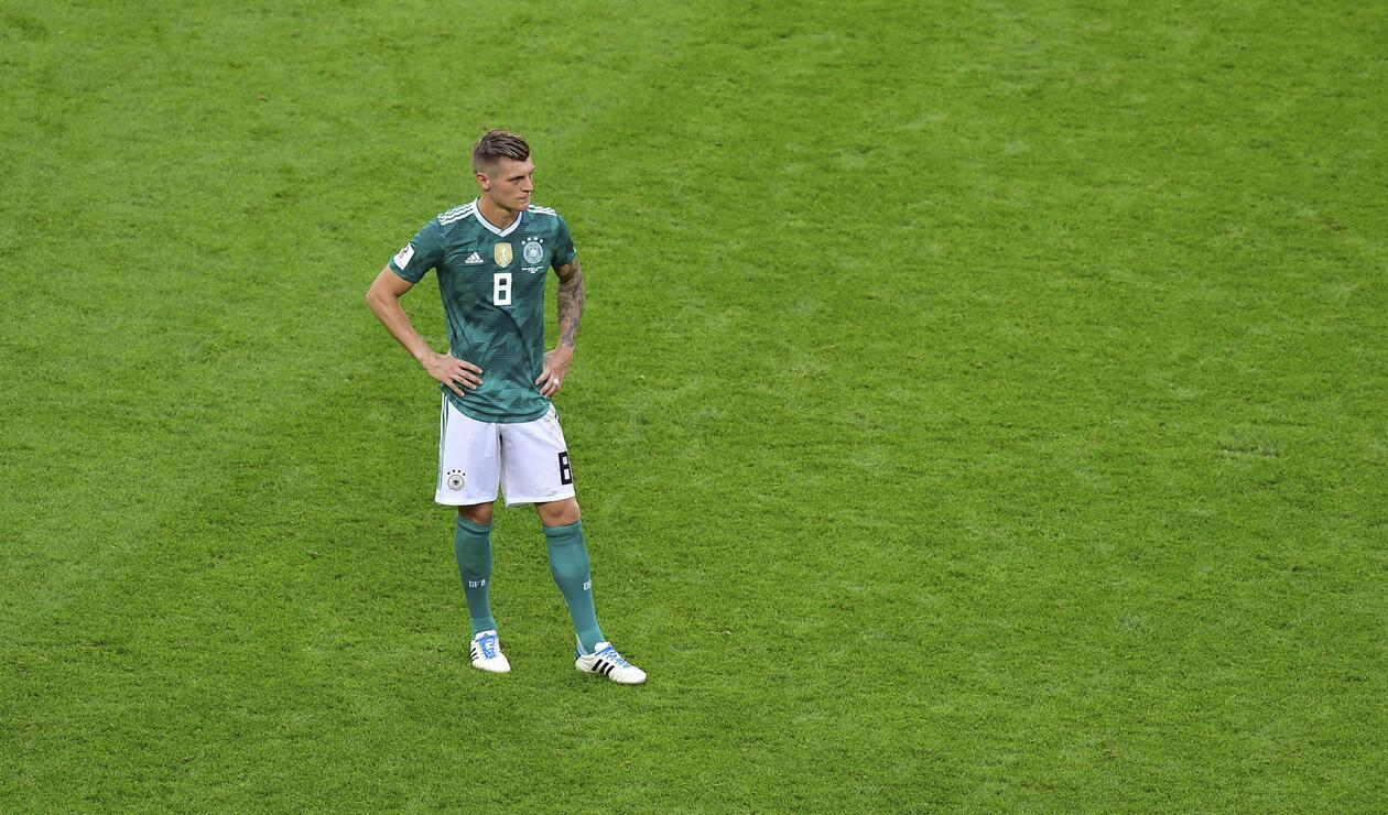 Toni Kroos muestra su decepción tras la eliminación de Alemania de Rusia 2018