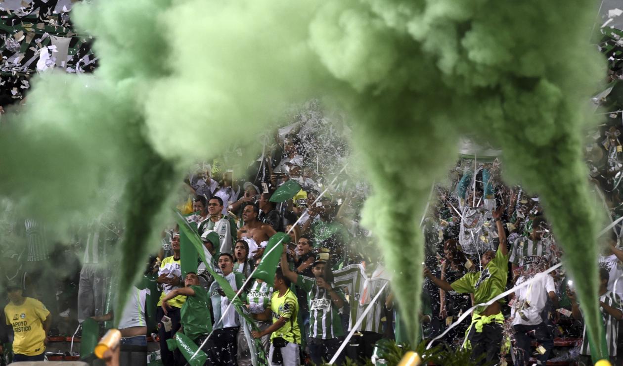 Tribuna de Atlético Nacional.