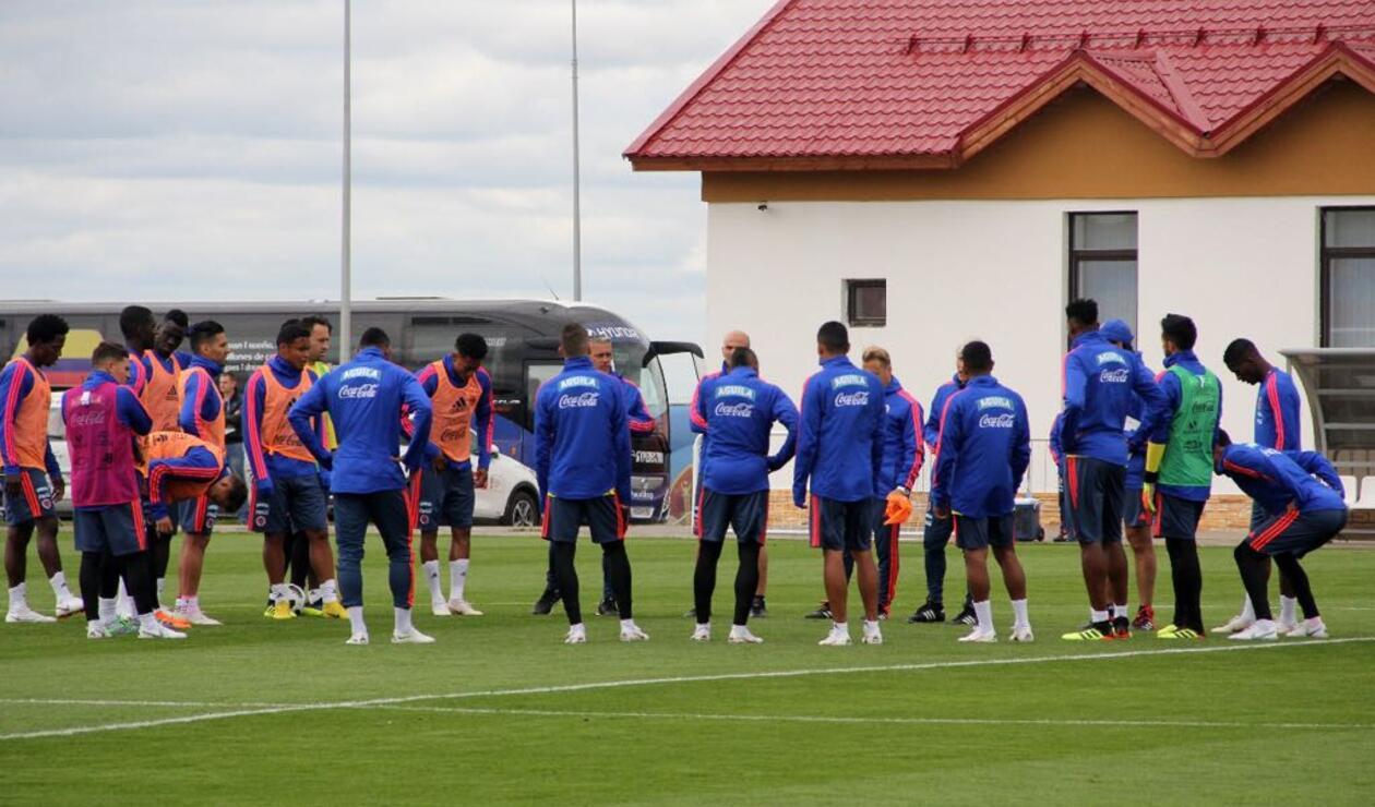 Selección Colombia entrenando en Kazan