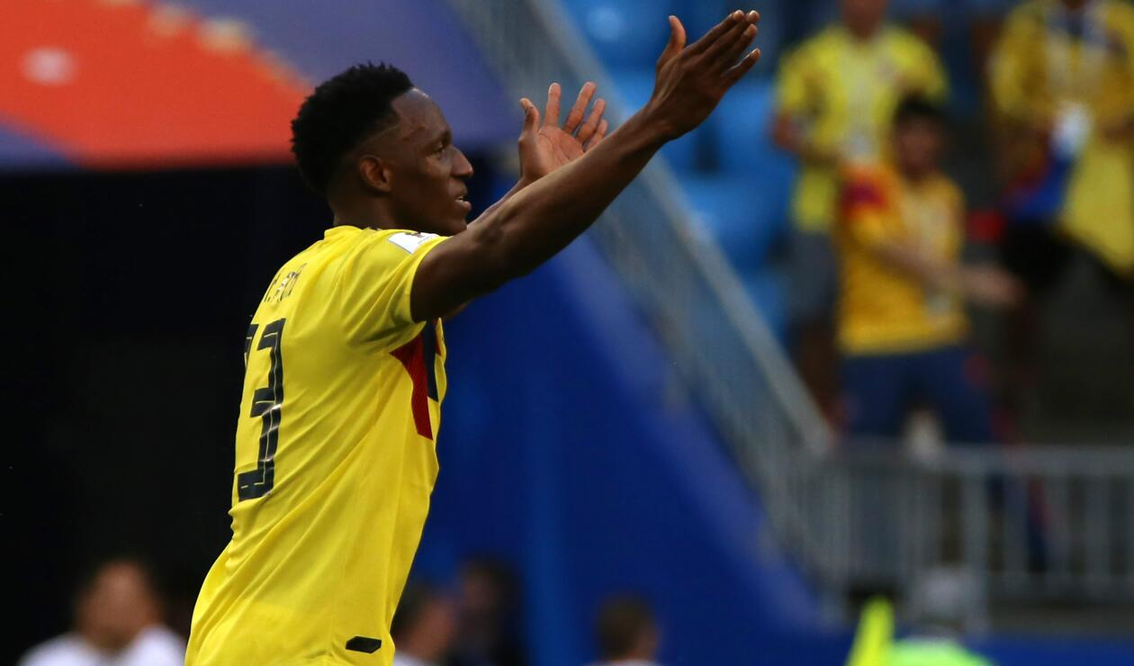 Yerry Mina Colombia Senegal Rusia 2018