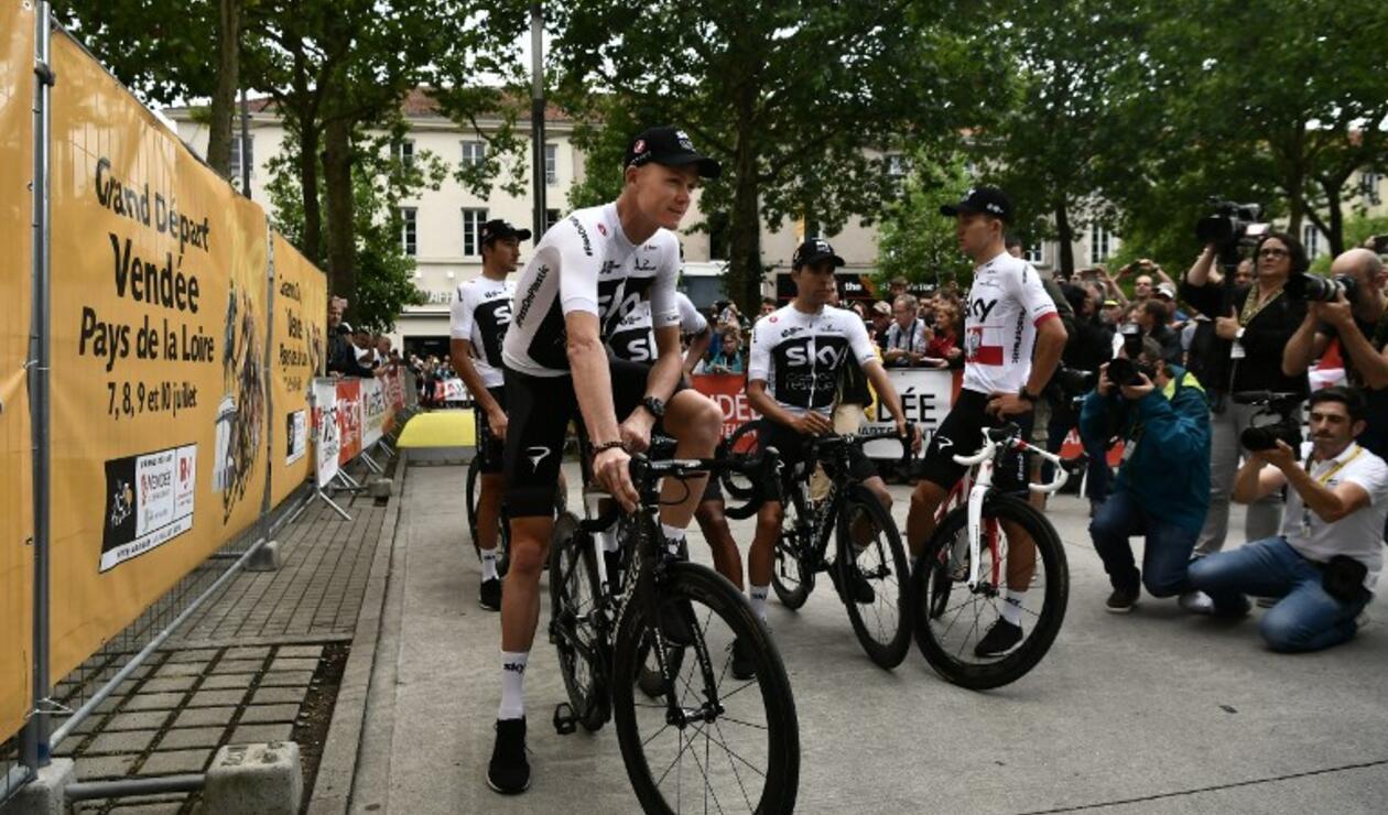 Ciclista británico Chris Froome en la presentación para el Tour de Francia 2018.