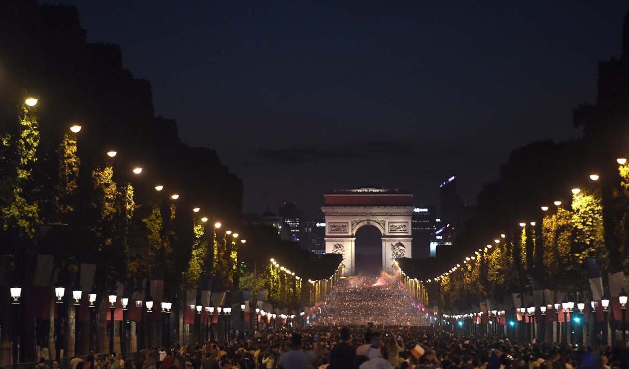 París celebra el paso de Francia a la final del mundial de Rusia