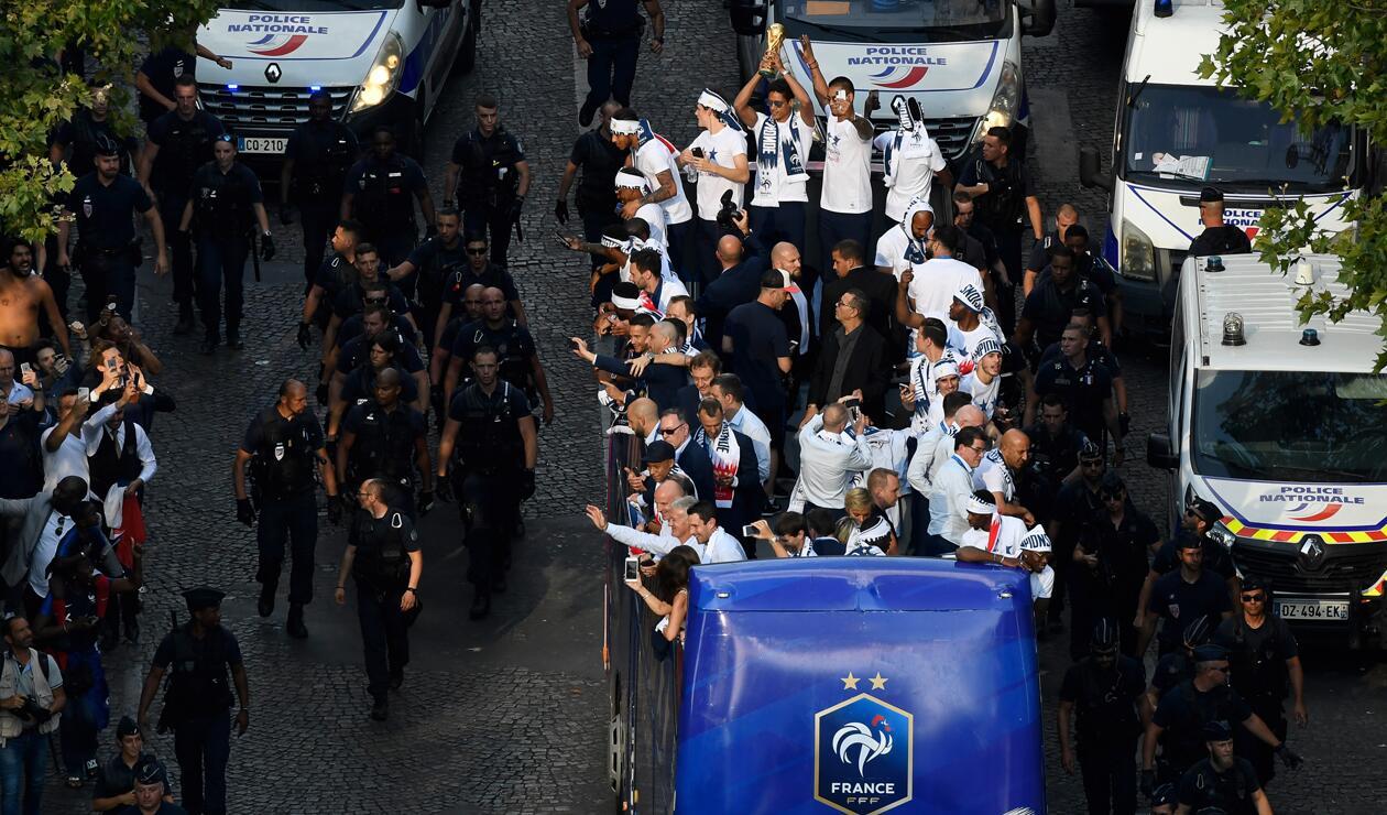 jugadores Francia París Copa Mundo