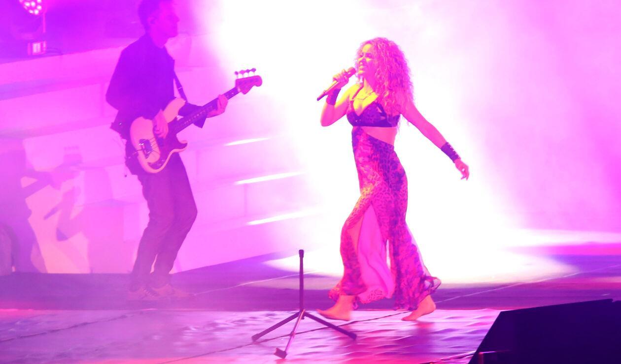 Shakira durante la inauguración de los Juegos Centroamericanos y del Caribe Barranquilla 2018