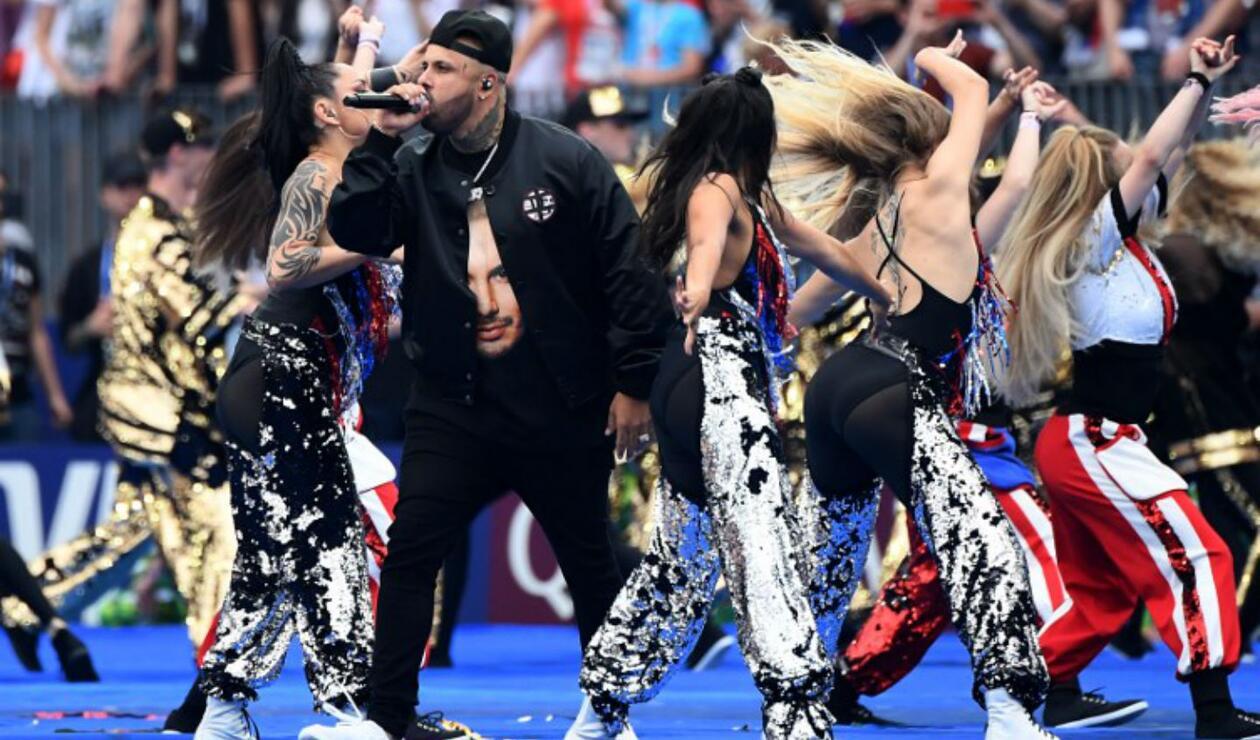 Nicky Jam en el cierre del Mundial de Rusia