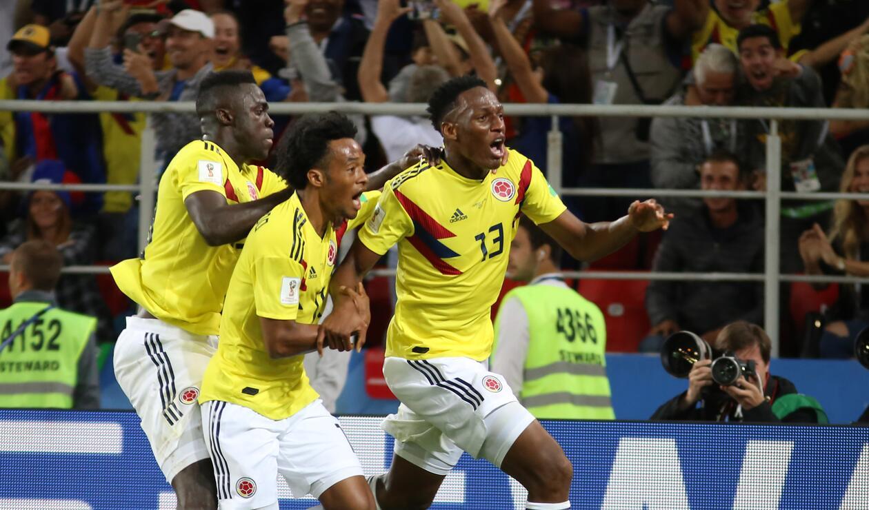Gol Yerry Mina Colombia Inglaterra Rusia 2018 4