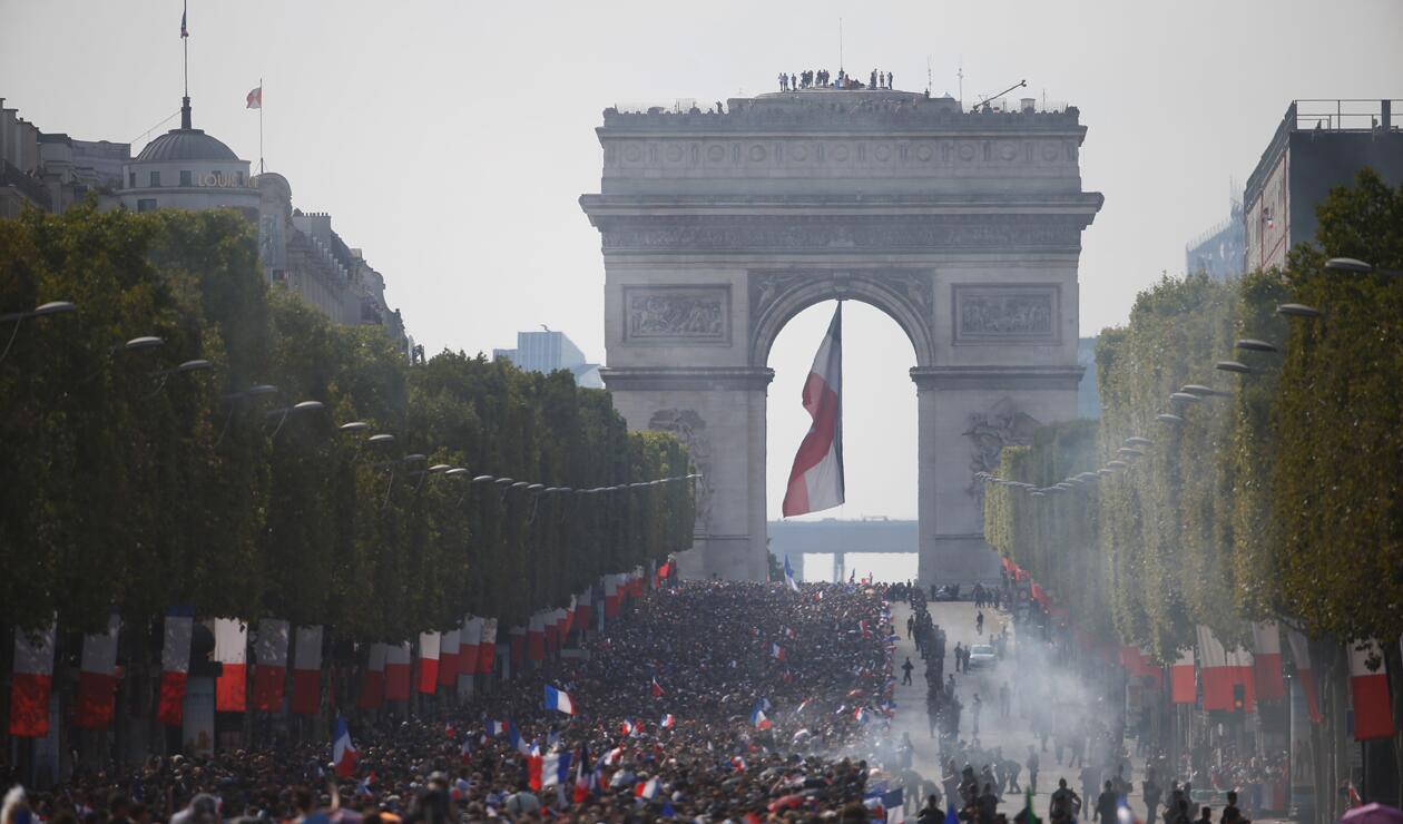 jugadores Francia París Copa Mundo 4