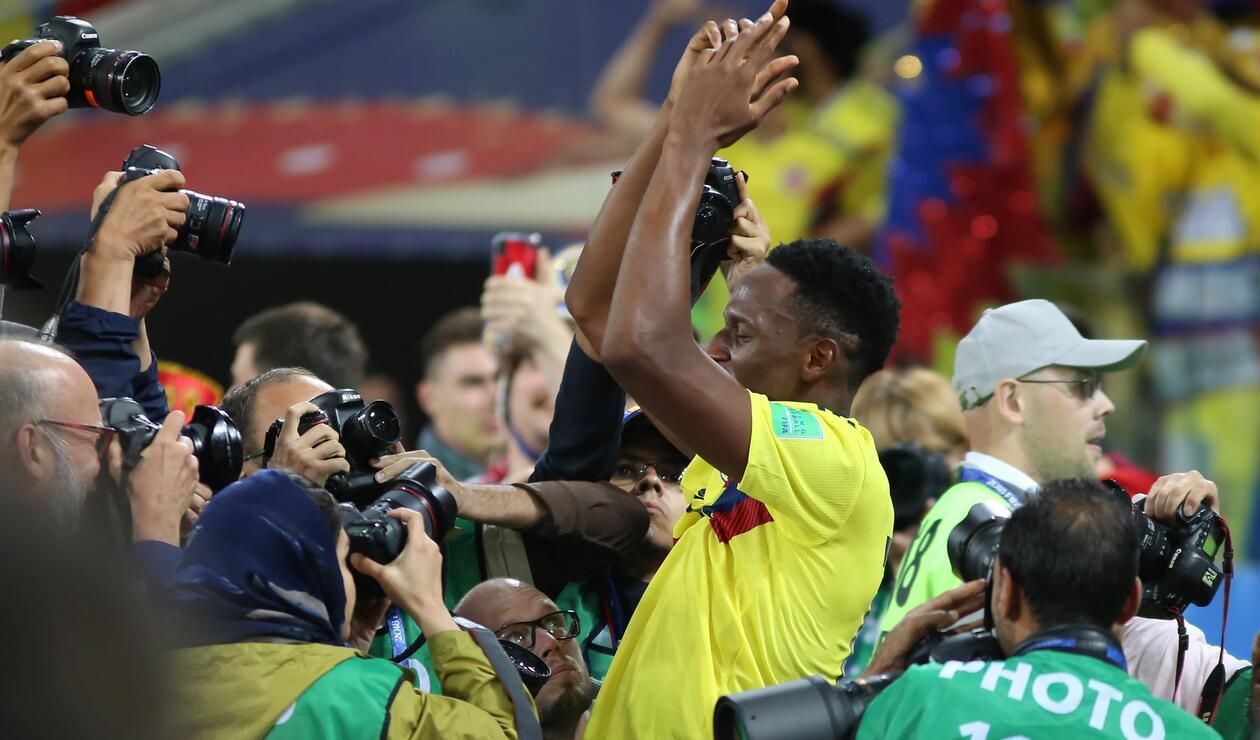 Gol Yerry Mina Colombia Inglaterra Rusia 2018 5