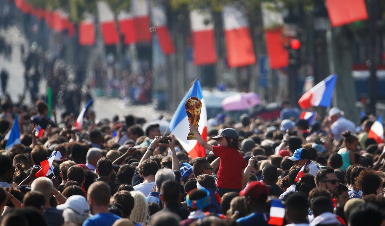 jugadores Francia París Copa Mundo 5
