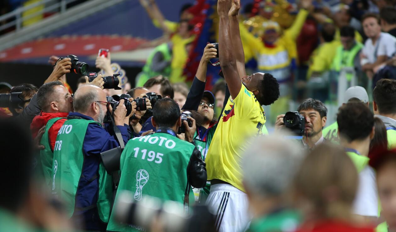 Gol Yerry Mina Colombia Inglaterra Rusia 2018 7