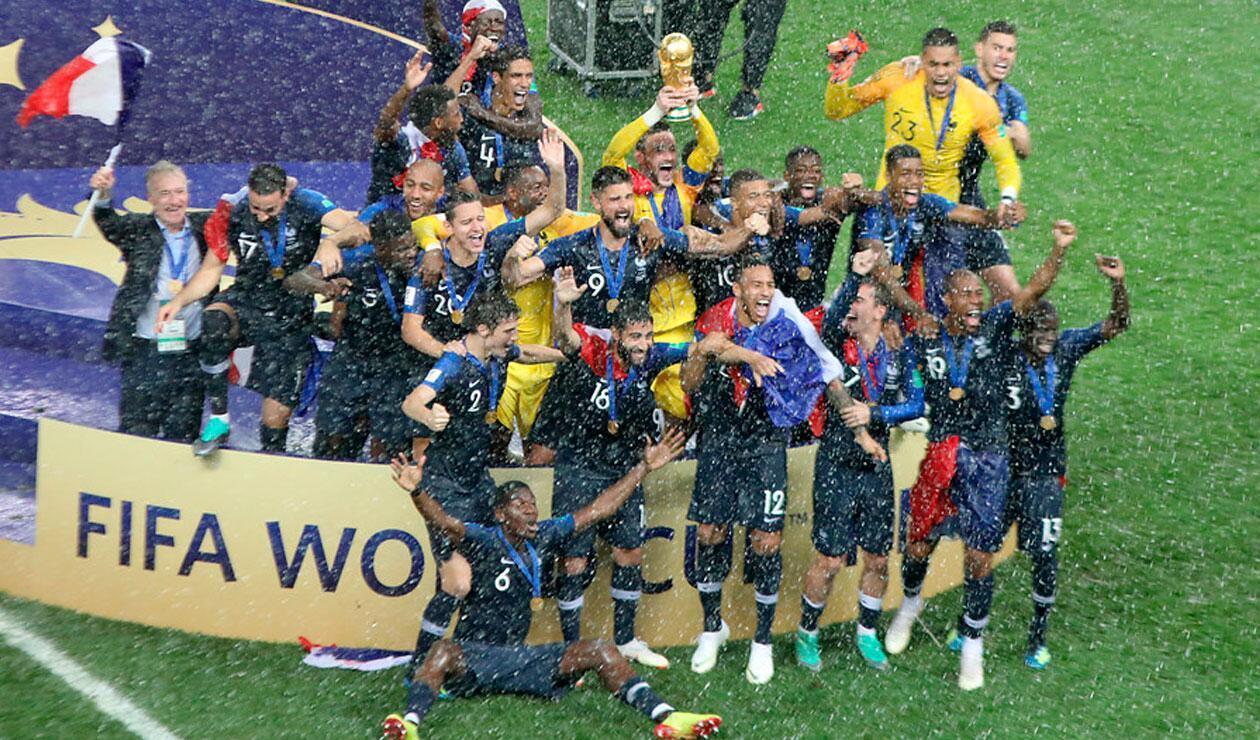 Celebración de Francia, bicampeona del Mundial