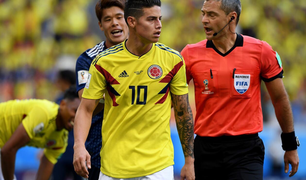 James Rodríguez es duda en Colombia para el juego ante Inglaterra