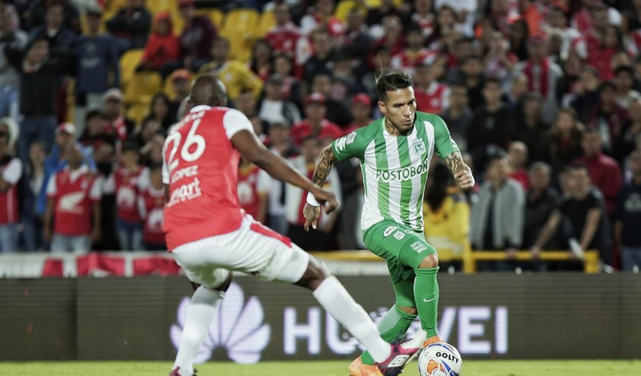 Dayro Moreno abrió la cuenta para Nacional ante Santa Fe