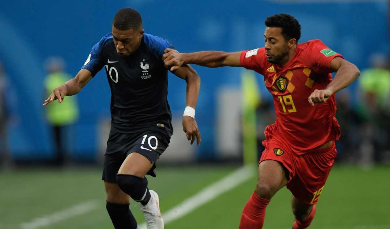 Bélgica y Francia en la primera semifinal del Mundial de Rusia 2018