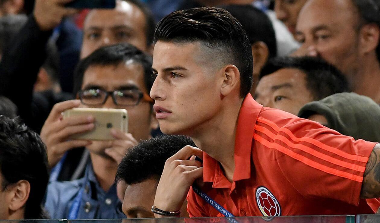 James Rodríguez no estuvo presente en el último partido de la Selección Colombia en Rusia 2018