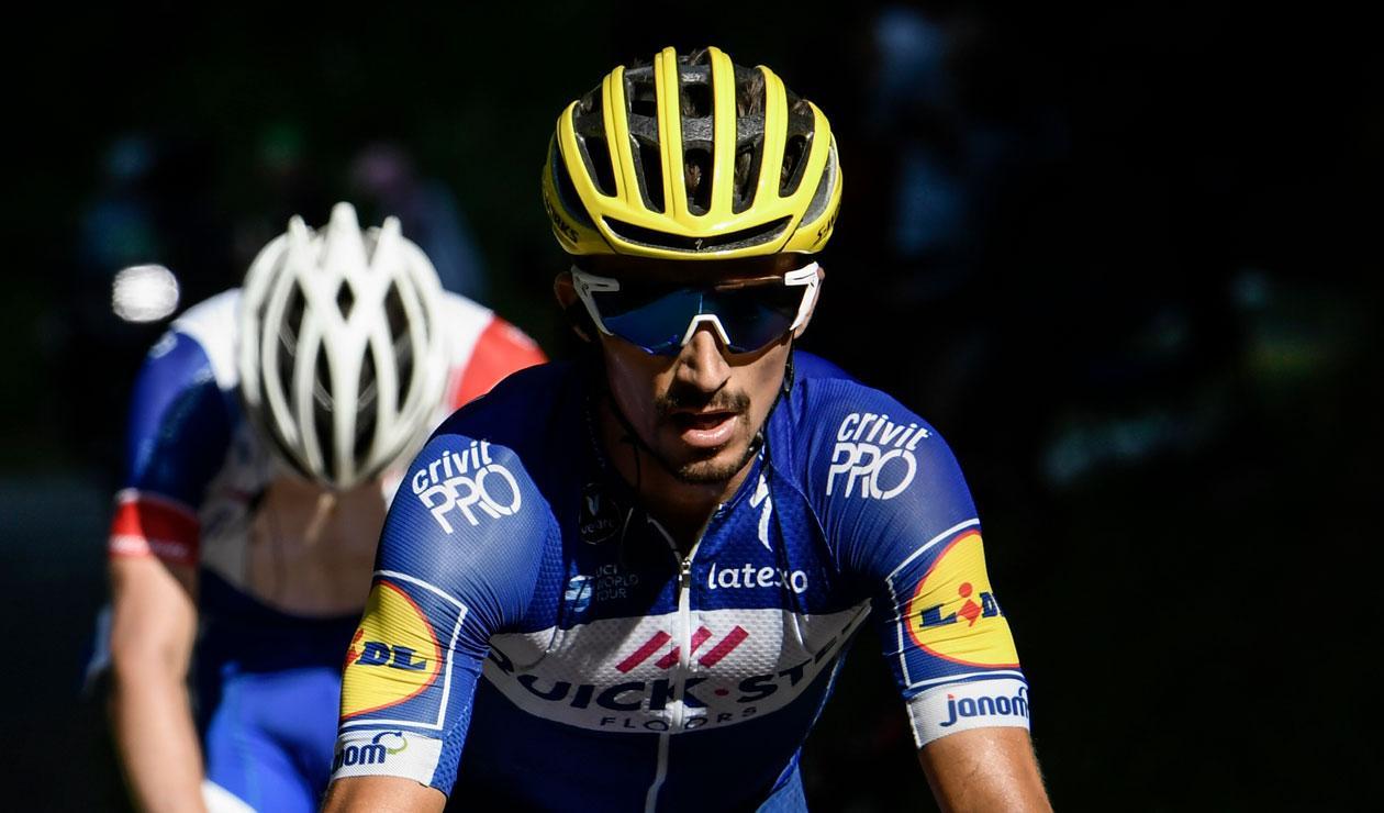 Julian Alaphilippe del Quick Step, ganador de la décima etapa