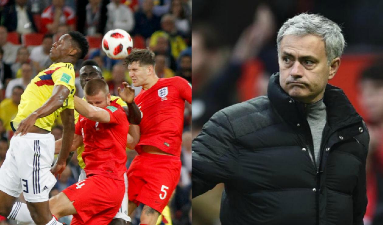 """Mourinho, """"sorprendido"""" con la teatralidad de los ingleses frente a Colombia"""