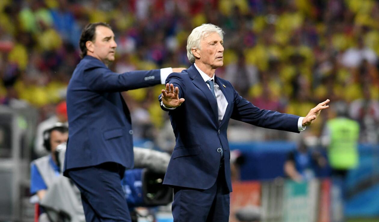 José Pékerman junto a Néstor Lorenzo con la Selección Colombia en Rusia 2018