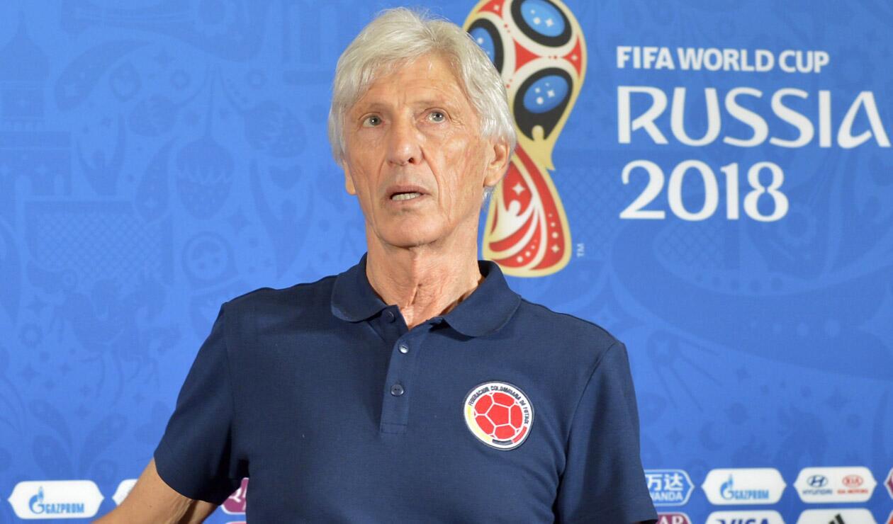 José Pékerman durante su participación con Colombia en Rusia 2018