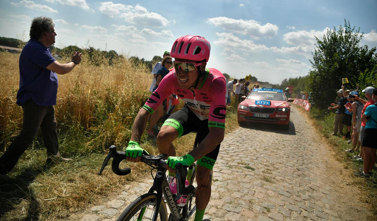 Rigoberto Urán durante la jornada del pavé en el Tour de Francia