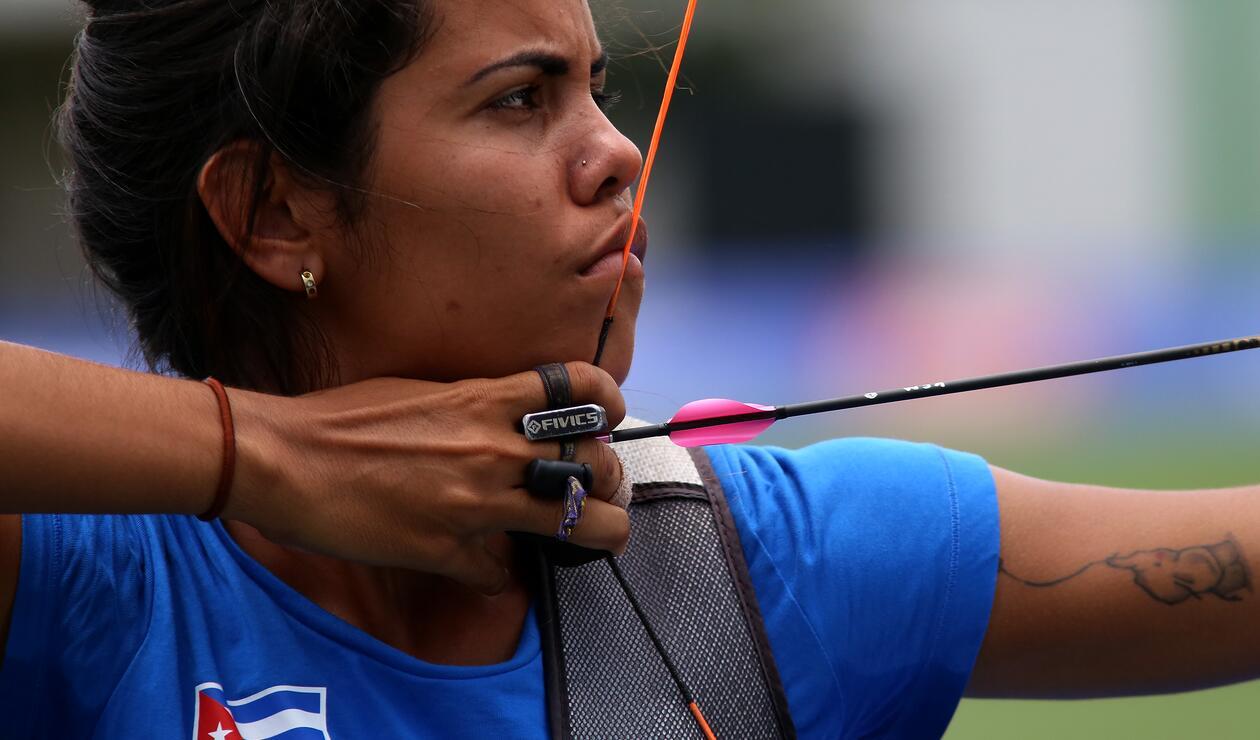Deportista de Cuba en el Tiro con Arco