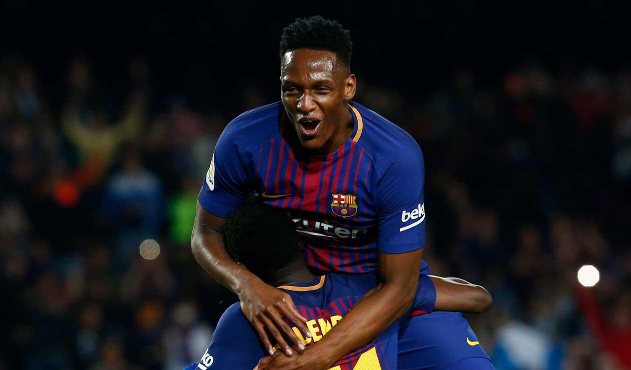 Yerry Mina, jugador que podría salir del FC Barcelona