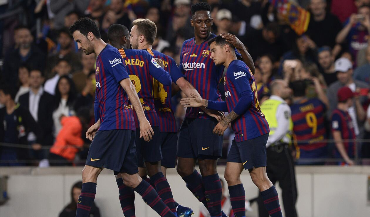 Yerry Mina tuvo poca continuidad en el Barcelona la temporada pasada