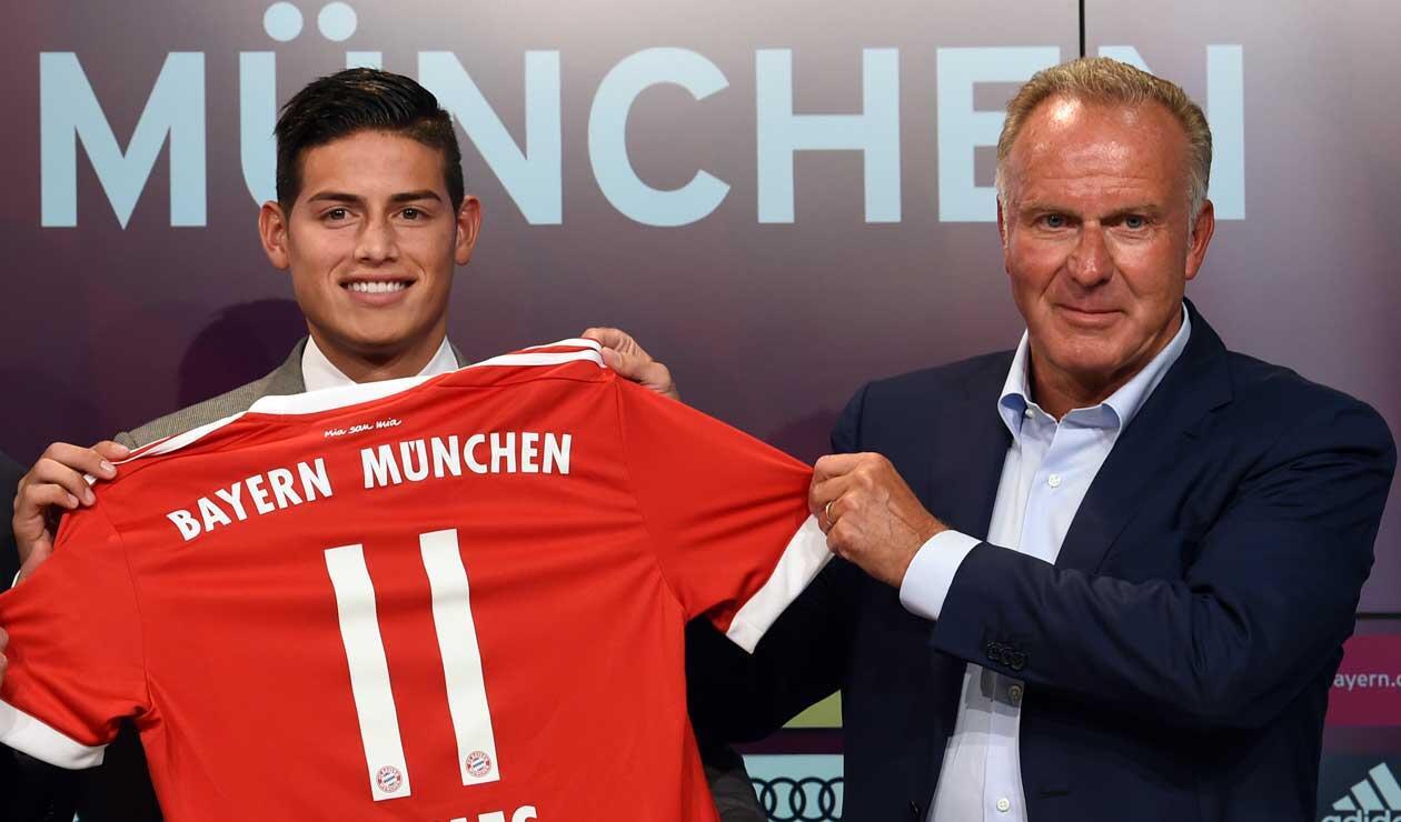 James Rodríguez, el día de su presentación en el Bayern Munich a inicios de la temporada 2017