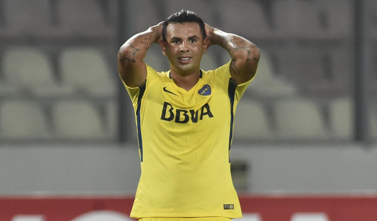 Edwin Cardona lamenta un gol errado